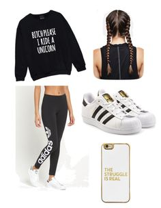 """""""casual"""" by maudehutson on Polyvore featuring adidas Originals and BaubleBar"""