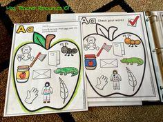 Beginning Sounds, Beginning of Kindergarten, and a Freebie! Learning The Alphabet, Alphabet Activities, Literacy Activities, Kids Learning, Learning Spanish, Beginning Of Kindergarten, Beginning Of The School Year, Preschool Letters, Kindergarten Literacy