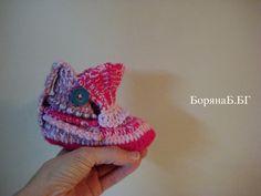 Children's slippers, girl slippers, crochet slippers
