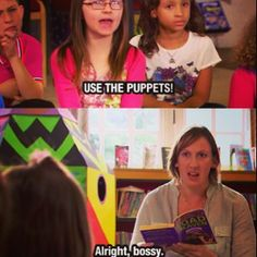 Use the puppets!