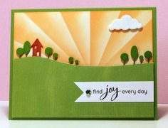 try variations on the yellow half of the card