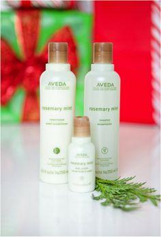 Aveda rosemary mint shampoo, conditioner and lotion