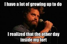 Zach Galifianakis on Carrot Top - Win Picture One Line Jokes, Zach Galifianakis, Out Of My Mind, Lol, I Love To Laugh, Funny People, Funny Photos, Comedians, Wise Words