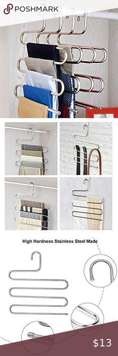 Higher Hangers Space Saving Clothes Hangers Slimline Heavy  Assorted Colors