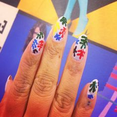 Amazing Matisse nails by Ellie - check out his show at the Tate Modern now! #wahnails #nailart #matisse