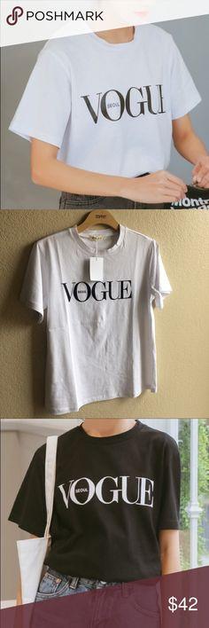 Vogue tee Length:66cm Bust:101cm Shoulder:42cm Sleeve:19cm Tops Tees - Short Sleeve