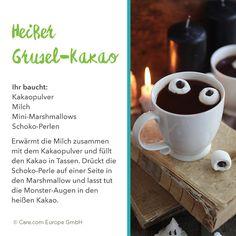 Schaurig leckerer Gruselkakao Mini Marshmallows, Halloween, Party, Tableware, Fall, Recipe, Horror, The Last Song, Cacao Powder