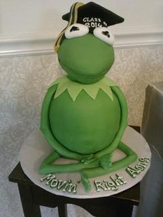 Kermit  was made at Little London Cake Shoppe