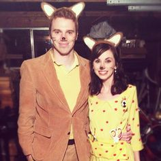 halloween costumes this year: mr. & mrs. fantastic fox (wes anderson style)