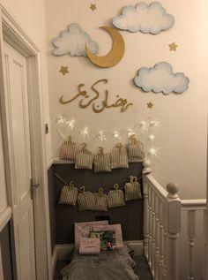 Eid decoration, eid mubarak, eid party city, why is eid celebrated, eid today Eid Crafts, Ramadan Crafts, Diy And Crafts, Fest Des Fastenbrechens, Decoraciones Ramadan, Prayer Corner, Eid Party, Ramadan Activities, Islam For Kids