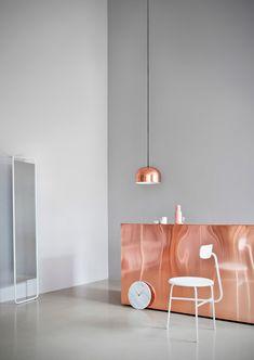 Objetos de diseño en cobre: barra de cocina