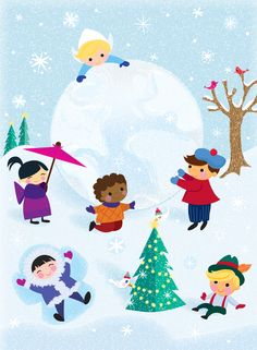 snow fun/Jill Howarth illustration