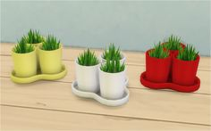 Veranka's TS4 Downloads | IKEA BLADET 3 Plant Pots with 1 Tray Hi. I spent...