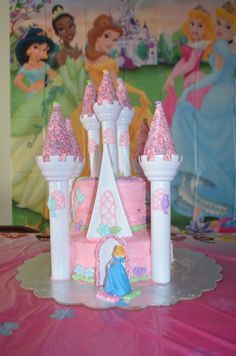 My very own I made! WILTON ROMANTIC PRINCESS CASTLE PARTY CAKE!