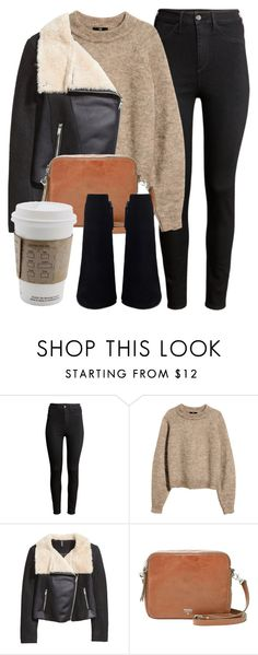 """Untitled #4759"" by laurenmboot ❤ liked on Polyvore featuring H&M and FOSSIL"