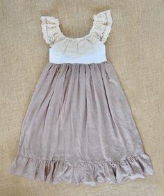 Brown Spring Bliss Maxi Dress - Toddler & Girls