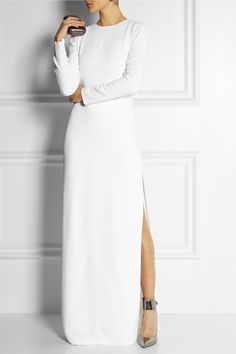 I need a dress like this! --> Adam Lippes | Crepe column gown | NET-A-PORTER.COM