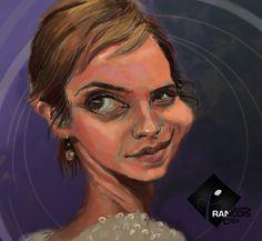 Caricature Emma Watson