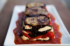 Eggplant and Red Pepper Terrine Recipe | Simply Recipes