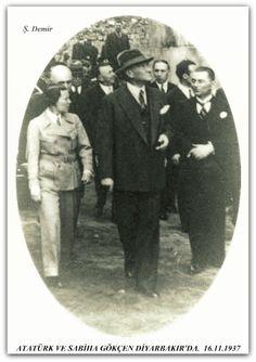 ATATÜRK VE SABİHA GÖKÇEN DİYARBAKIR'DA. 16.11.1937