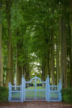 Blue gate at Hidcote Garden, the Cotswolds, Gloucestershire, England. © Brian Jannsen Photography