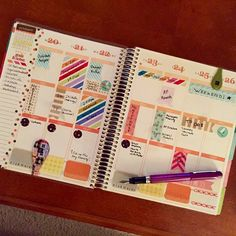 gorgeous weekly spread! #eclifeplanner
