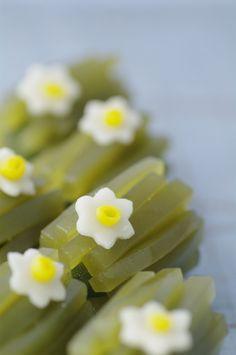 """Japanese Sweets """"wagashi"""",  Hokkaido Narcissus"""