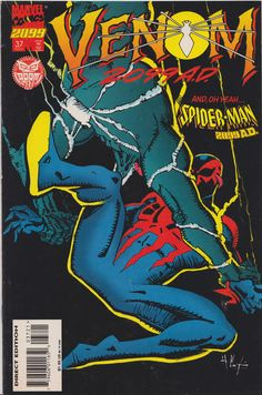 Spider-Man 2099 # 37 (Variant) by Howard Chaykin Venom 2099, Marvel 2099, Spiderman, Comic Covers, Comic Books, Superhero, Comics, Fictional Characters, Script