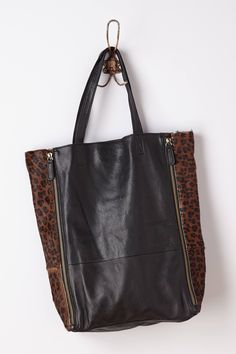 Leopard Striped Calla Tote - @Anthropologie.com #anthrofave
