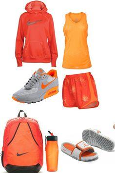 Orange nike gym outfit