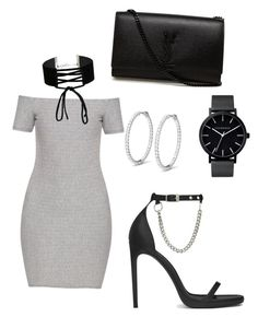"""""""Grey black"""" by lluviagb on Polyvore featuring Topshop, Miss Selfridge, Yves Saint Laurent and The Horse"""