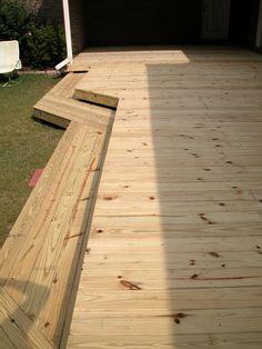 flat deck with wrap around steps1   RL Fence & Decks