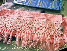 Resultado de imagem para macrame passo a passo em toalhas