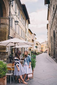 Gal Meets Glam Montalcino - Vivetta dress and Madewell jacket; ASOS dress on Rose
