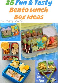 25 Bento Box Lunch Ideas for back to school via flouronmyface.com