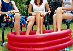 Three words for your next summer bash: adult wading pool.