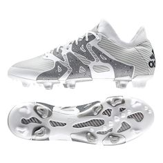 Check out the white Adidas X 15.1 soccer cleats. White is a symbol of purity, but the adidas X are soccer boots designed to create Chaos. Order your Adidas soccer cleats today at SoccerCorner.com.  http://www.soccercorner.com/Adidas-X-15-1-FG-AG-Soccer-Cleats-p/sm-ads83149.htm