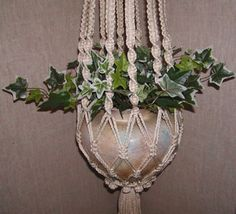 Items similar to Macrame Plant Hanger, Cream Cord, Hang A Plant ...