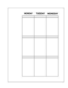 Happy Planner weekly printable spread