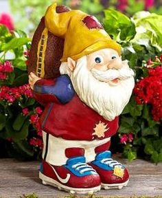 #328436035 Sporty Football Gnome Garden Statues by sensationaltreasures
