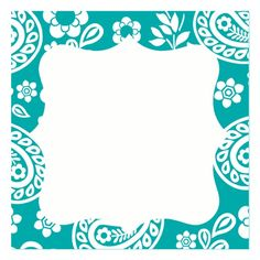 paisley aqua name card