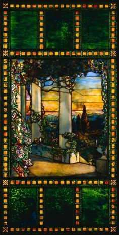Window  Louis Comfort Tiffany (American, 1848-1933)    Date: c. 1900    Medium: stained glass