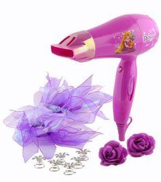 Disney Princess Rapunzel Style Kit Hair Dryer Little Girl Real Hairdryer        #Disney