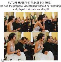 Future Husband Please Do This,. wedding future husband Creative Marriage Proposal Ideas I Love Cute Wedding Ideas, Wedding Tips, Perfect Wedding, Wedding Planning, Dream Wedding, Wedding Day, Wedding Inspiration, Wedding Stuff, Wedding Themes