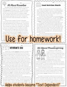 Each passages comes with 2 graphic organizers for citing evidence & questioning techniques. Each passages also comes with 3 pages of questions aligned to CCSS Reading Strategies, Reading Activities, Teaching Reading, Learning, Text Evidence, Citing Evidence, Text Dependent Questions, Third Grade Reading, Questioning Techniques