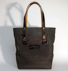 """Hand dyed cotton canvas tote bag - seaweed green with black pocket and black leather strap ●  Size: 5,5"""" x 11"""" x 14,2"""" - American ● 14 cm x 28 cm x 36 cm - European ● In case of order, please contact us with the following e-mail address: info@smithandscribeco.com #cottoncanvas #canvasbag #handmade #handdyedcanvas #handmadeineurope #1920's #1930's #1940's #totebag #copperrivet #italianleather #premiumingredients Scribe, Seaweed, Hermes Birkin, Italian Leather, Canvas Tote Bags, Cotton Canvas, Black Leather, Pocket, American"""
