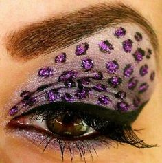 Purple glitter leopard print eyeshadow? This...VERY this. I need this.