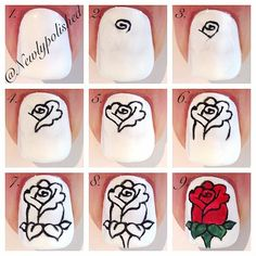 Instagram media by newlypolished - Rose tutorial /Hanna