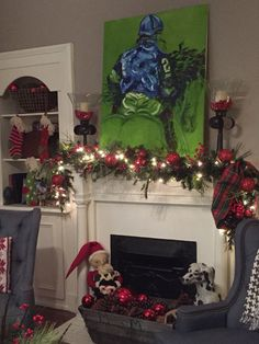 Living room and mantel