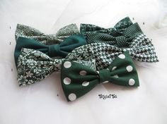 Hunter Mismatched Green Wedding Bow Ties Emerald Wedding Bow